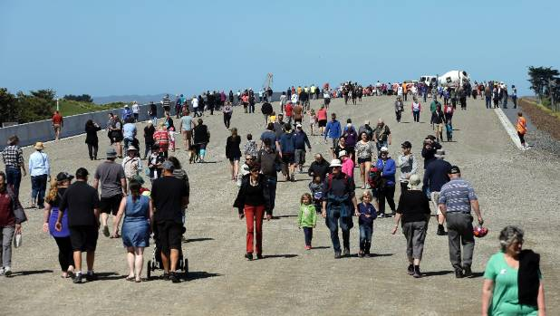 The Kapiti Expressway open day drew a big crowd on Sunday.