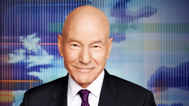 Patrick Stewart plays naughty newsman Walter Blunt on the new US comedy Blunt Talk.