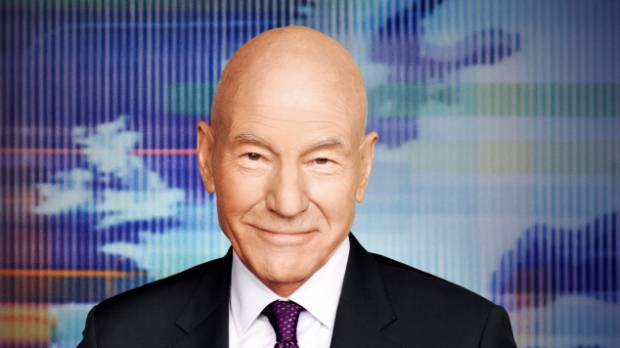 Patrick Stewart plays naughty newsman Walter Blunt on the US comedy Blunt Talk.