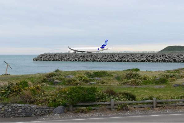 The view from 35 Moa Point Rd with an extended runway.