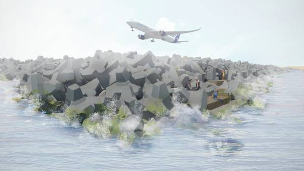 Wellington Airport's proposed runway extension will feature a walkway and water access.