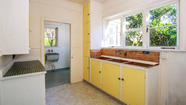 The kitchen in the million-dollar home at 9A Kerr Place in Devonport.