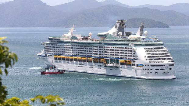 Biggest Cruise Ship In New Zealand Stops Over In Picton