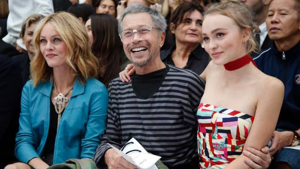 That's Vanessa Paradis on the left and Lily-Rose Depp on the right. They're pictured with French artist Jean-Paul Goude.
