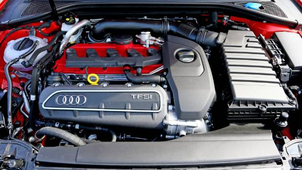Line 'em up: Four rings but a five-pot engine in Audi's RS 3.