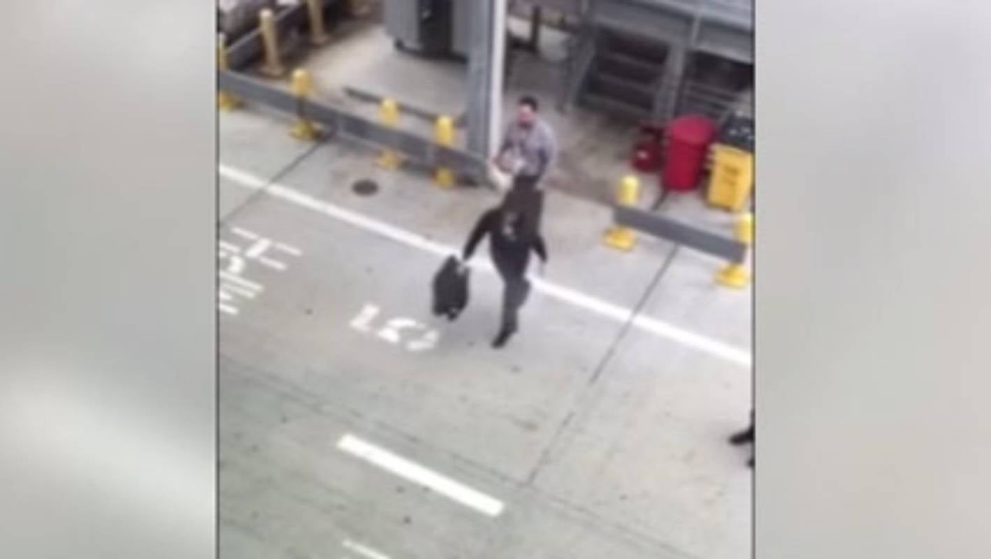Baggage Handlers Caught Playing Toss The Bag With