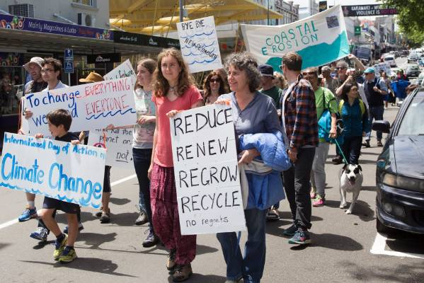 Protesters want the Government to take a stronger stand on climate change.