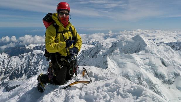 Missing climber Steve Dowall pictured on the summit of Aoraki-Mt Cook in November 2011.