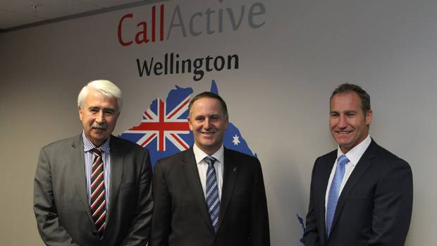 Prime Minister John Key opened CallActive House on October 1, 2013, along with then Wellington City Councillor John ...