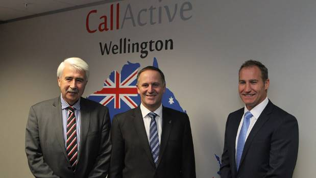 Prime Minister John Key opened Callactive House in 2013, with then-Wellington City Council councillor John Morrison, and ...