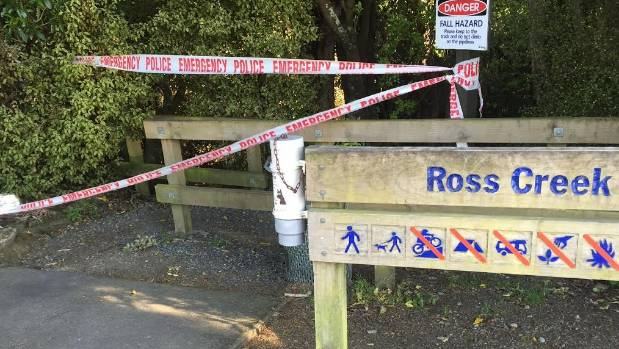 Police have placed cordons around the scene at the Ross Creek walking track.