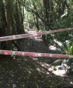 The cordoned off scene of an assault in Dunedin.