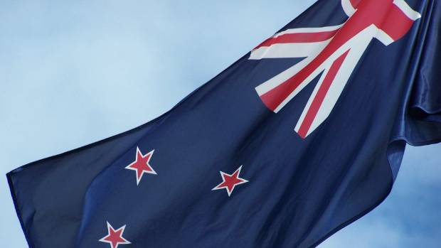 The current design flies as the flag of New Zealand.