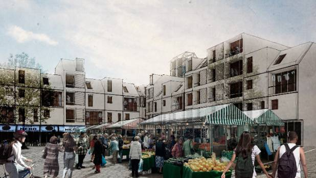 An artist's impression of the design by Ganellen and Design King Company, which was among the finalists in the Breathe ...