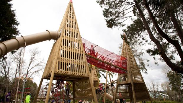 Tui Glen boasts one of Auckland's newest playgrounds with a treetop theme and a range of innovative structures.