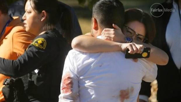 San Bernardino residents grieve after Syed Rizwan Farook and his wife, Tashfeen Malik, opened fire on a holiday ...