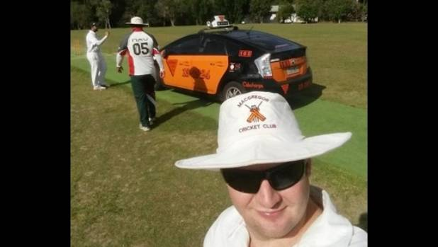 Macgregor Cricket Club players were disappointed to lose eight overs, but player Ben Carlton gained a memorable selfie.