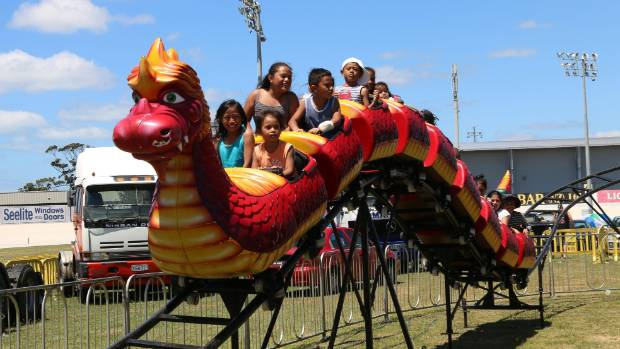 All the fun of the fair on the dragon ride at Fun Fest in January.