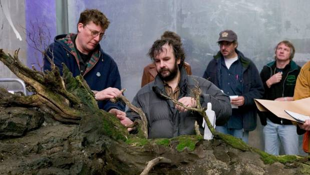 The Movie Museum founders Sir Peter Jackson and Sir Richard Taylor