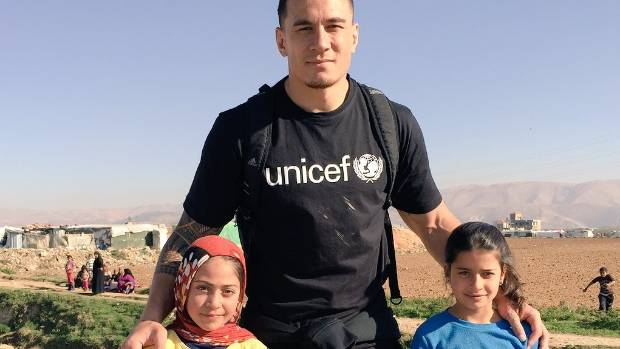 SBW with children at the refugee camp.
