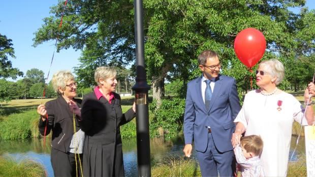Polish Ambassador  Zbigniew Gniatkowski, Mayor Lianne Dalziel  and honorary Polish consul Winsome Dormer celebrate the ...