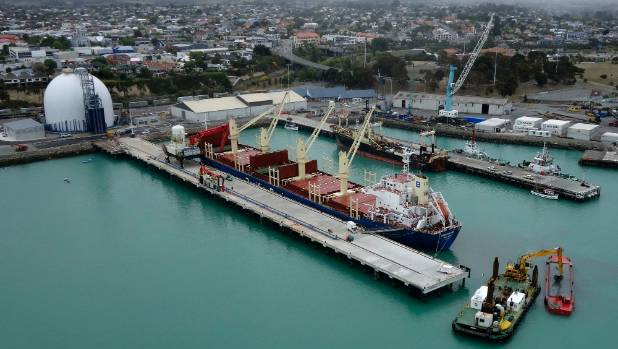 Holcim's first cement order has arrived on the Esperance Bay ship.