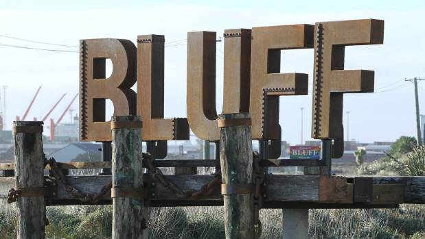 A new sign welcoming people to Bluff was put up in May.