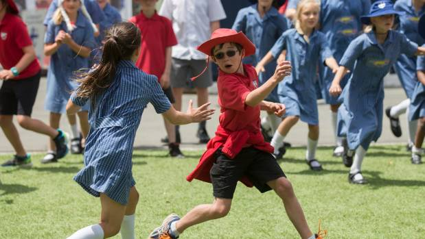 Kids from St Michael's and Redcliffs schools partied to celebrate the end of the school year.