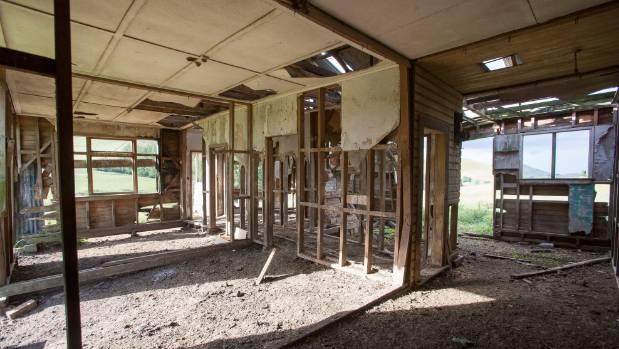 Inside Harvey Karaitiana's old home in Hastings.