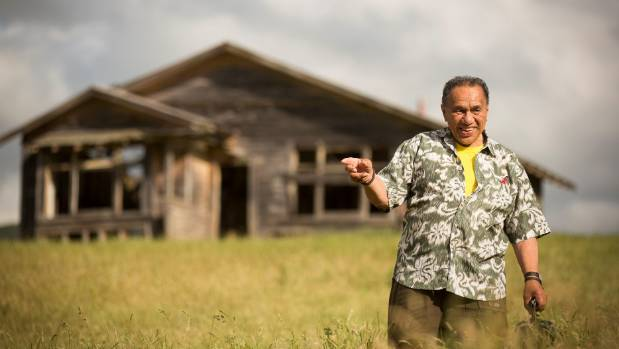 Harvey Karaitiana at his old home in Hastings. The dilapidated house alongside SH2 near Hastings is slowly falling down. ...
