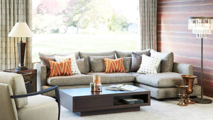 Copper Accents, The Layering Of Pattern And Mixing Modern And Vintage  Furniture Are All Part