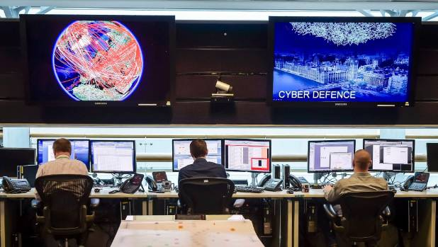 One of the control rooms inside GCHQ. Presumably all of these people can complete the puzzle.