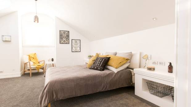 This bedroom, designed by Brooke and Mitch on The Block: Villa Wars, would make a great guest room.