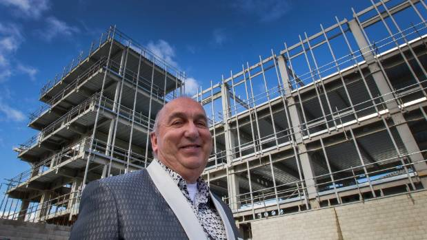 Antony Gough pictured in front of the Terrace project back in July.