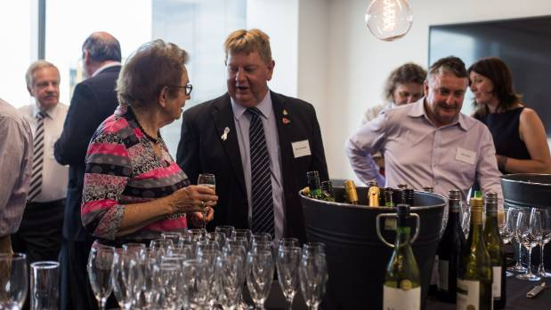 Dame Margaret Bazley (left) at CfC launch party. A force behind the shift to Canterbury-wide economic thinking.