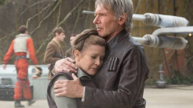 Carrie Fisher reprised her role as Leia in Star Wars: The Force Awakens.