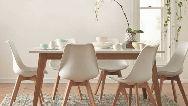 The Scandi influence in furniture, such as this Frieda dining suite from Freedom Furniture, remains strong for 2016, ...