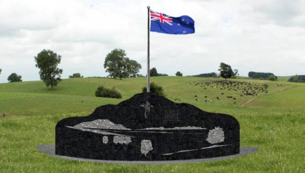 An artist's impression of the Tokanui Cemetery memorial wall, set to be unveiled in February.