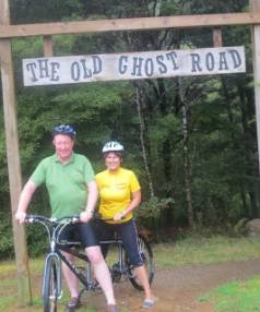 Nelson MP Nick Smith and National list MP Maureen Pugh tried out the Old Ghost Road cycle trail at the weekend.