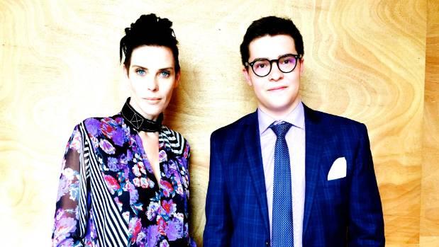 Fashion designer Karen Walker with Unfiltered founder Jake Millar.