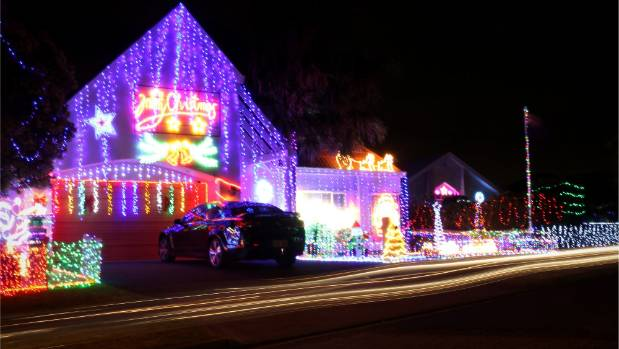 Uldale Place in Northpark, East Auckland has Christmas lights on every house in the street.