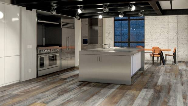 There is a strong move towards refined rustic finishes in kitchens this year. These ceramic floor tiles from Tile Depot ...