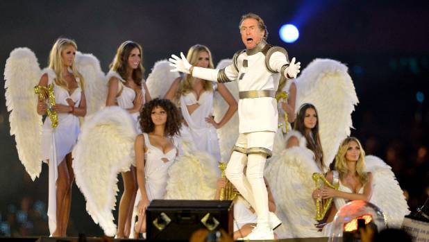 Eric Idle performs during the Closing Ceremony of the London 2012 Olympic Games.