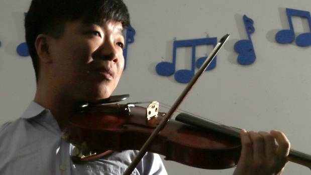 Ben Lim is passionate about the violin.