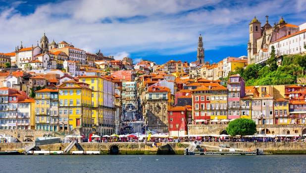 Colourful architecture, medieval ruins and stunning churches can all be found in Porto, Portugal.
