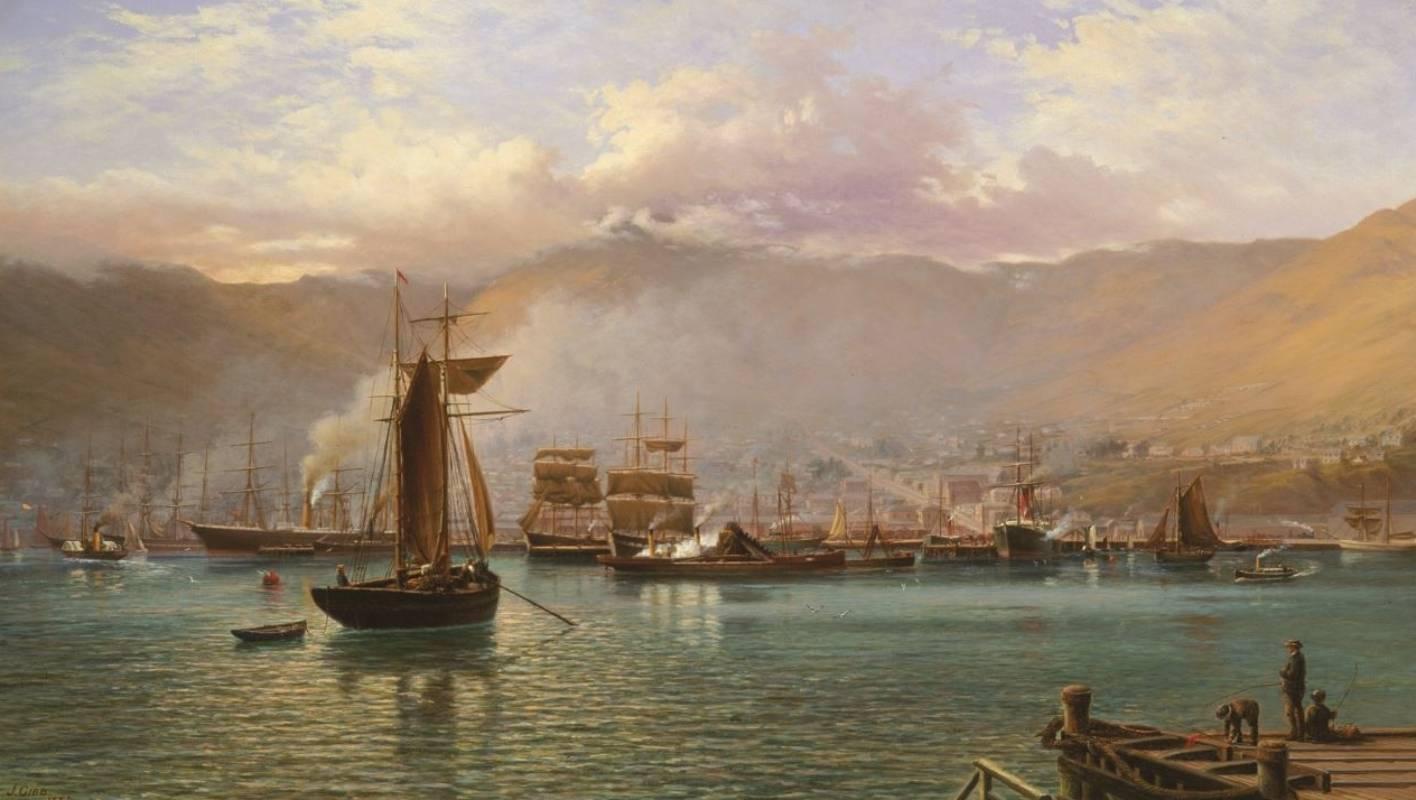 christchurch art gallery john gibbs 1886 view of