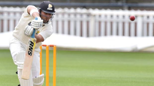 Luke Woodock scored 39 for the Wellington Firebirds during their Plunket Shield match against the Otago Volts on Thursday.