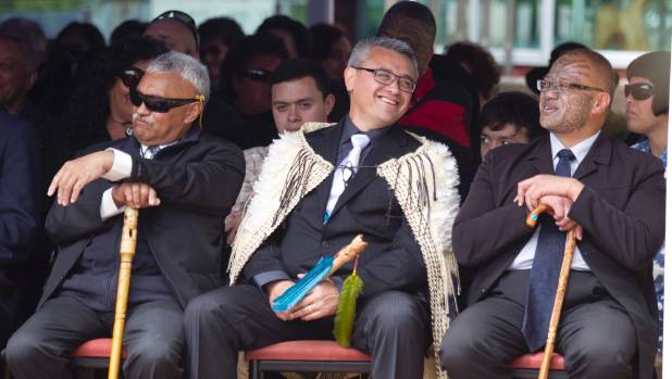 "Jim Mather, centre, head of Te Wananga o Aotearoa, was caught up in a ""whaling"" scam."