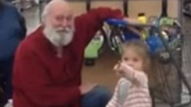 The little girl told Santa he'd have to share the cookies with his reindeer.