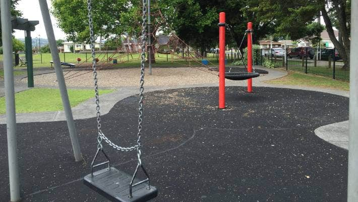 The modern playground in Central Park, Papakura, is one of Auckland's best.